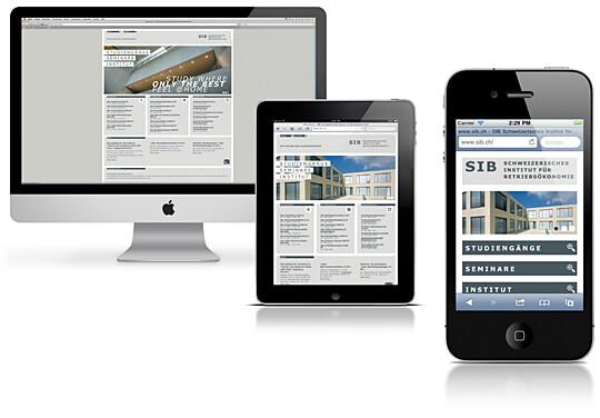 SIB Schweizerisches Institut für Betriebsökonomie: Responsive Website
