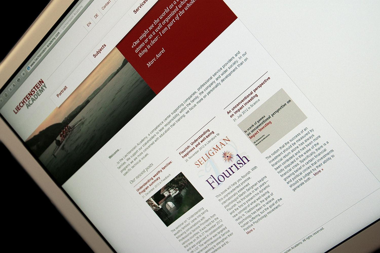 Liechtenstein Academy: Neue Website
