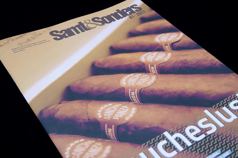 Sonderegger Druck Weinfelden: Kundenzeitschrift «Samt&Sonders» 01.2011
