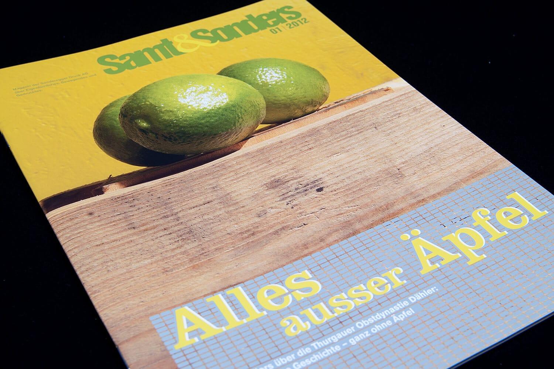Sonderegger Druck Weinfelden: Kundenzeitschrift «Samt&Sonders» 01.2012