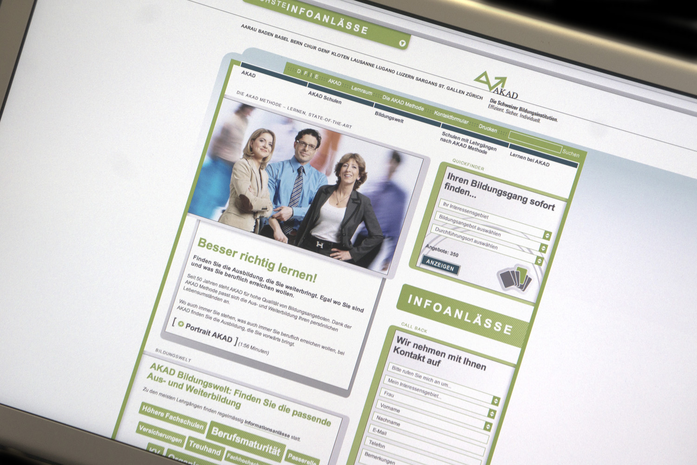 AKAD: Komplett neue Website online