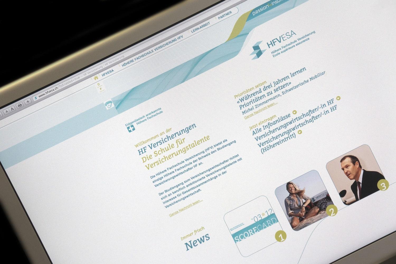 Höhere Fachschule Versicherung HFV: Neue Website