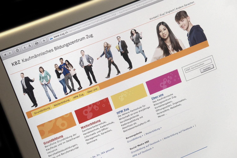 KBZ Kaufmännisches Bildungszentrum Zug: Neue Website