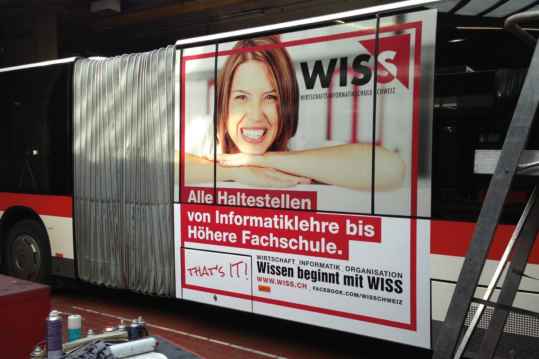 WISS: Erster Werbeauftritt im neuen Corporate-Design