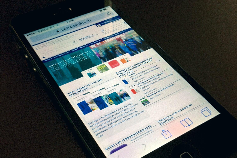 Neue Website für Compendio Bildungsmedien