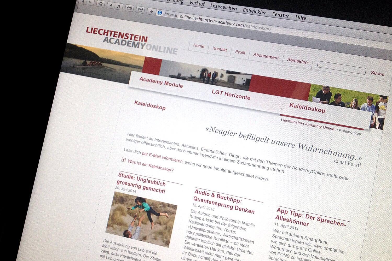 Vom Lernen nur das Beste: Liechtenstein Academy Online geht live.