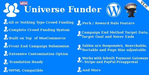 Funktionen von Universe Funder