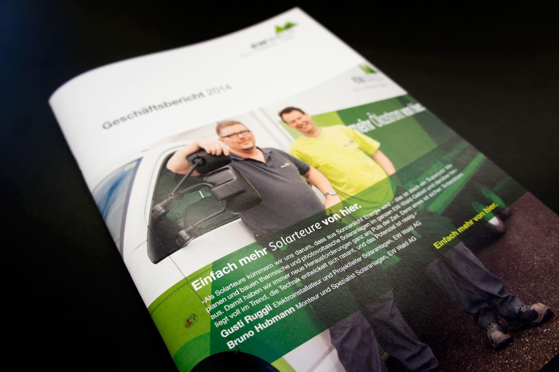 EW Wald Geschäftsbericht 2015: Malen für Zahlen