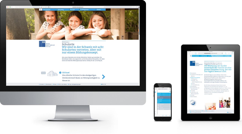 SIS Responsive Website