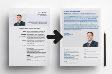 Executive Branding CV Vorher Nachher