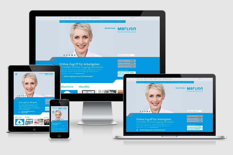 Neue Website für «unsere» Pensionskasse Merlion
