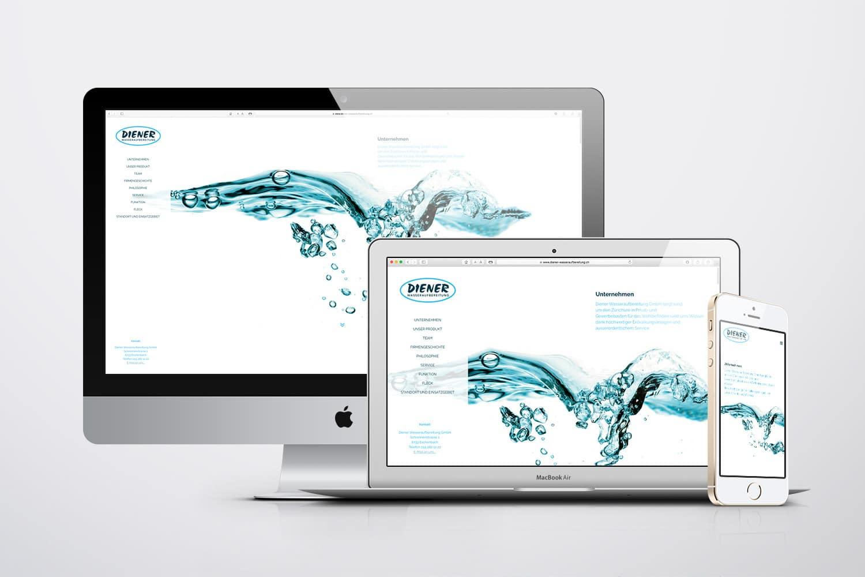 Aber oho! Die neue Website der Diener Wasseraufbereitung GmbH