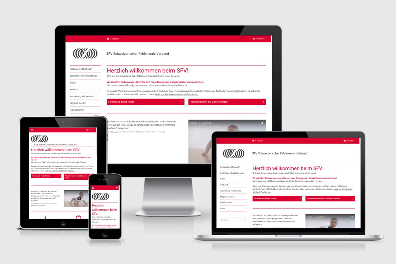 Mehr Applikation als Infotainment: Die neue Website für den Schweizerischen Feldenkrais Verband
