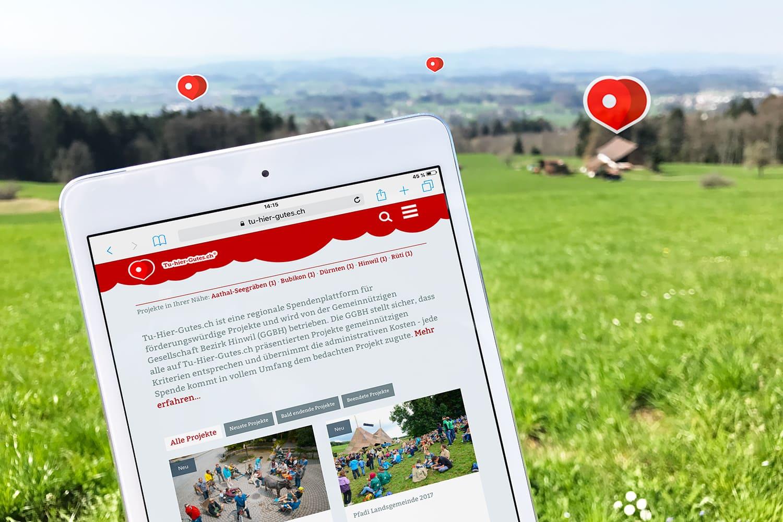 Die Spendenplattform fürs Zürcher Oberland: Tu-hier-Gutes.ch