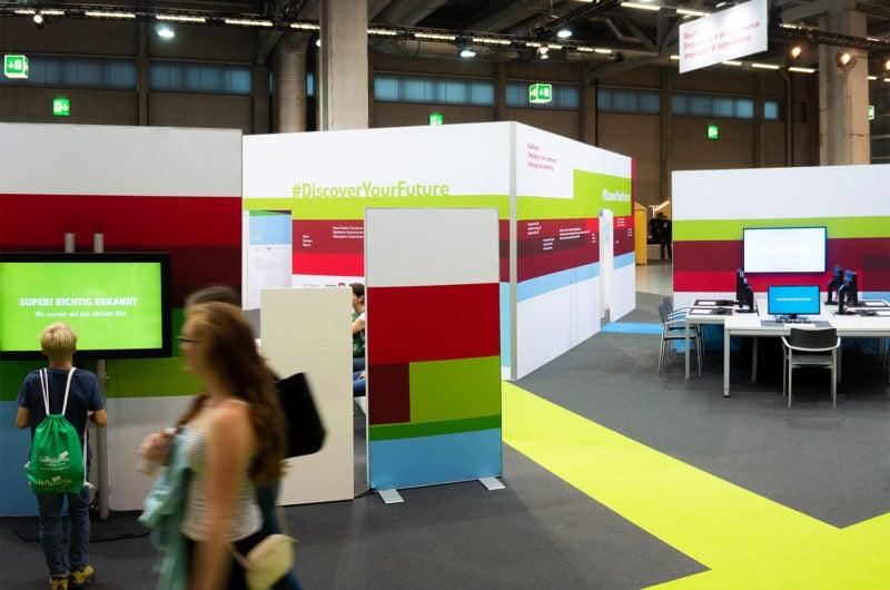 Kaufleute präsentieren an der SwissSkills 2018 die Zukunft