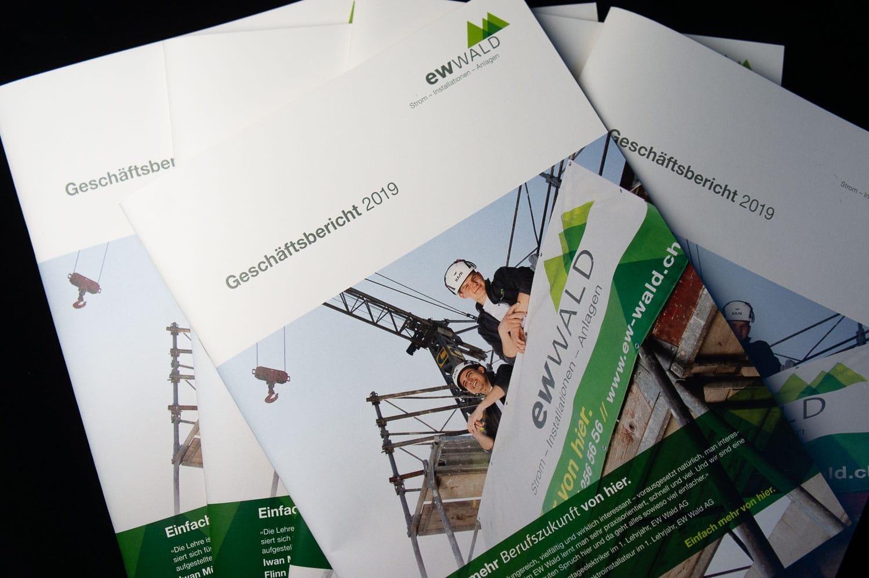 Geschäftsbericht 2019 der EW Wald AG: Ein wiederkehrendes Ereignis in verschiedenen Dimensionen.